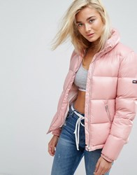 Tommy Jeans High Shine Padded Down Jacket Pink