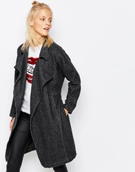 Religion Duster Coat Charcoal Black