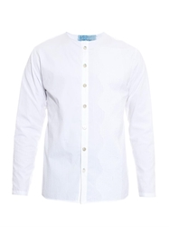 By Walid Embroidered Cotton Poplin Shirt