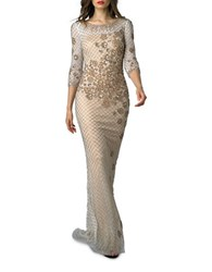Basix Ii Embellished Gown White Gold