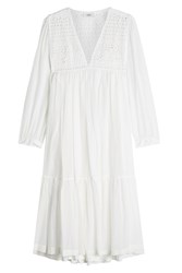 Closed Cotton Dress With Cut Out Pattern