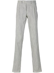 Gabriele Pasini Striped Straight Leg Trousers Nude And Neutrals