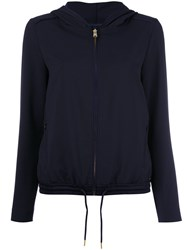 Woolrich Zip Up Hooded Jacket Blue