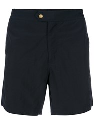 Tom Ford Fitted Swim Shorts Blue