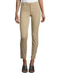 Minnie Rose Skinny Stretch Twill Ankle Pants Cargo