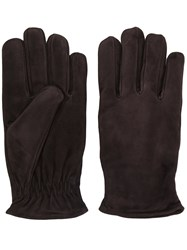 Lardini Classic Fitted Gloves Men Chamois Leather Xl Brown