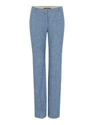 Max Mara Afoso Denim Effect Trousers Blue