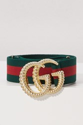 Gucci Gg Marmont Web Belt Green Red