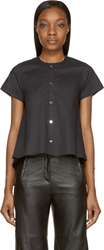 Maison Martin Margiela Black Winged Short Sleeve Button Up Shirt