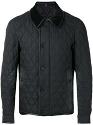Burberry Quilted Coat Men Polyamide Polyester Acetate Viscose 50 Black