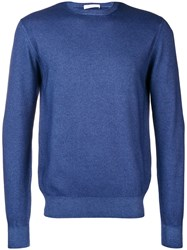 Cruciani Long Sleeve Fitted Sweater Blue