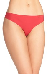 Calvin Klein Women's 'Invisibles' Thong Regal Red