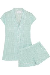 Three J Nyc Olivia Polka Dot Cotton Pajama Set Mint