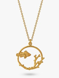 Alex Monroe Clownfish And Coral Pendant Necklace Gold