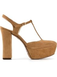 L'autre Chose Mary Jane Platform Pumps Nude And Neutrals