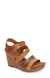 Sofft Women's Candia Wedge Sandal Luggage Leather
