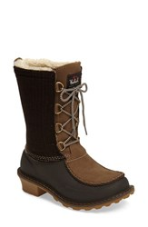 Woolrich Women's Fully Woolly Waterproof Snow Boot Java Wool