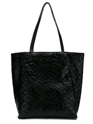 Mara Mac Pirarucu Leather Tote Black