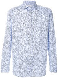 Etro All Over Printed Shirt Men Cotton 44 Blue
