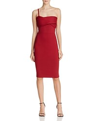 Mason Asymmetric Strap Dress Blood