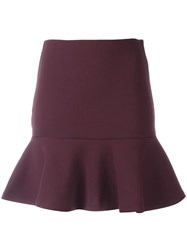 Mcq By Alexander Mcqueen Peplum Mini Skirt Red
