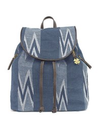Lucky Brand Bryan Embroidered Backpack Navy