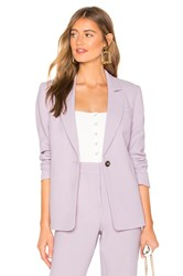 1.State Textured Crepe One Button Blazer Lavender