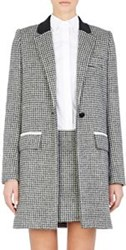 Paco Rabanne Jacquard Single Button Coat Grey