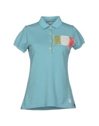 Authentic Original Vintage Style Polo Shirts Turquoise