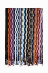 Missoni Women S Chevron Wool Scarf Boutique1 Black