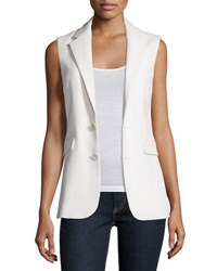 Ralph Lauren Button Front Vest Cream