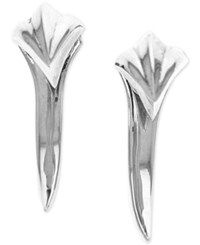 King Baby Studio Claw Spike Earrings In Sterling Silver
