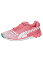 Puma Faas 300 V3 Cushioned Running Shoes Dubarry Pool Green White Coral