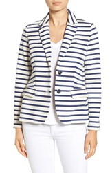 Vineyard Vines Women's Stripe Knit Blazer Deep Bay