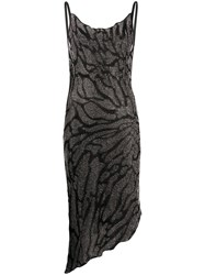 Just Cavalli Metallized Fitted Cocktail Dress 60