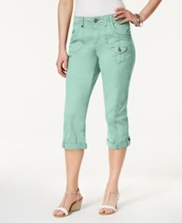 Style And Co Cuffed Capri Pants Only At Macy's Aqua Brook