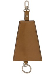Christophe Lemaire Triangular Key Holder Calf Leather Brown