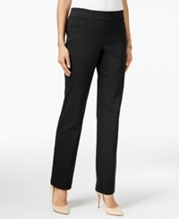 Jm Collection Pull On Slim Leg Pants Only At Macy's Deep Black
