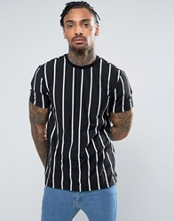 New Look T Shirt With Stripes In Black Black