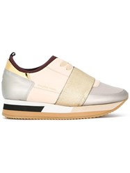 Philippe Model Panelled Sneakers Nude Neutrals