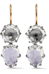 Larkspur And Hawk Caterina Rhodium Dipped Quartz Earrings Silver