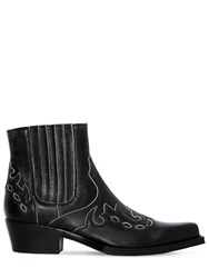 Calvin Klein 205W39nyc Cal Cavert Leather Ankle Boots Black
