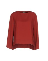 Gold Case Blouses Brick Red