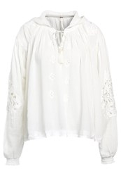 Free People Tropical Summer Tunic Ivory Off White