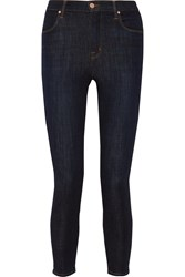J Brand Alana Cropped High Rise Skinny Jeans Dark Denim