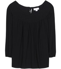 Velvet Harriette Off The Shoulder Blouse Black