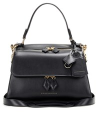 Victoria Beckham Small Full Moon Leather Cross Body Bag Black