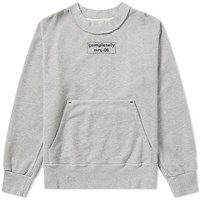 Mr. Completely Front And Back Box Logo Crew Sweat Grey