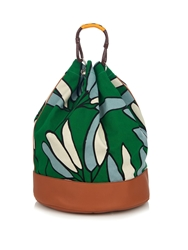 Marni Candle Stick Print Canvas Backpack