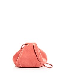 Creatures Of Comfort Puff Suede Drawstring Shoulder Bag Azelea Silver